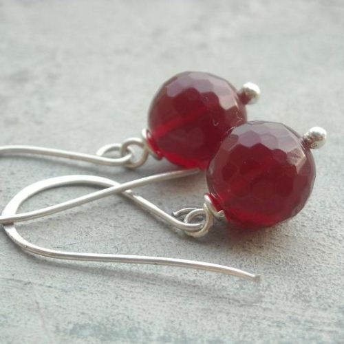 Handmade Ruby quartz gemstone sterling