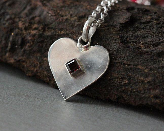 Buy heart pendant garnet pendant gemstone artisan silver pendant heart pendant garnet pendant gemstone aloadofball Gallery