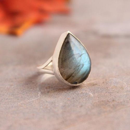 Labradorite Ring Bezel set drop