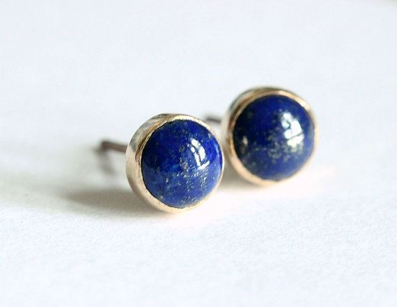 Lapis Lazuli Gold Earrings 18k