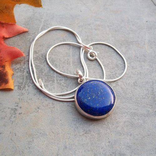 christopher gold lapis two jewellery cabochons silver pendant lazuli