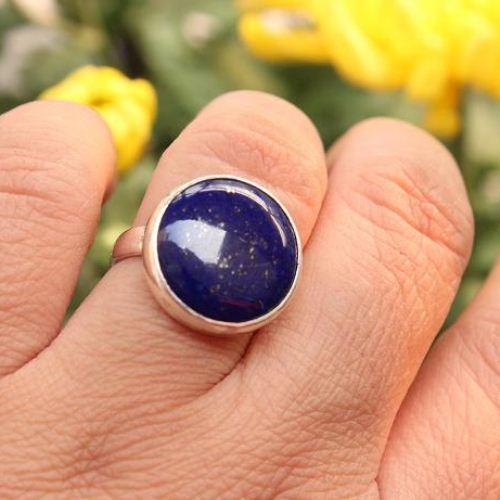 Buy Lapis Lazuli Ring Deep Blue Ring Bold Denim Silver