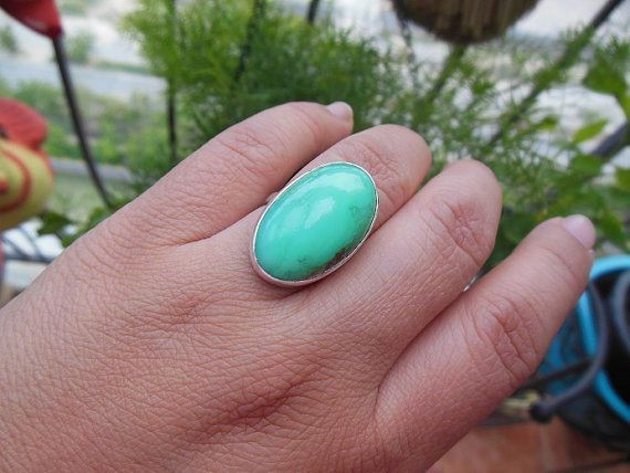 Mint Green Chrysophrase ring jewelry