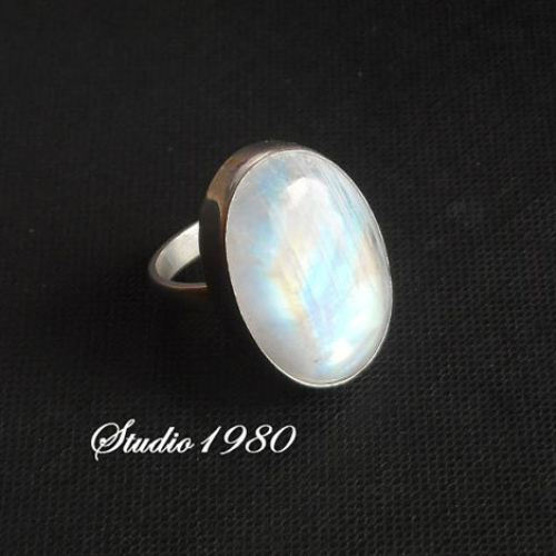 Natural Moonstone Ring Oval MoonStone