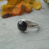 Natural blue sapphire ring - Genuine blue sapphire ring - Round ring