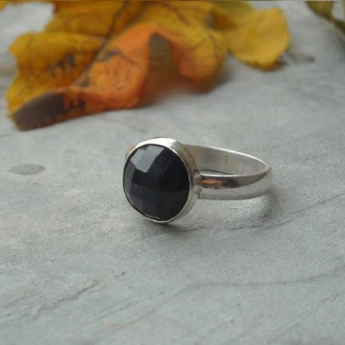 Natural blue sapphire ring Genuine