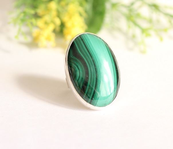 OOAK Malachite Ring Artisan ring