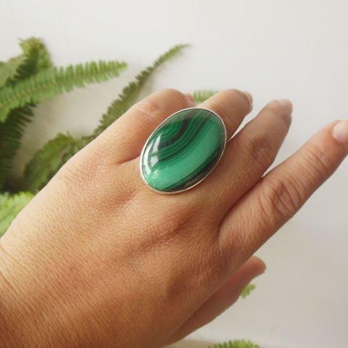 Buy Ooak Malachite Ring Artisan Ring Sterling Silver