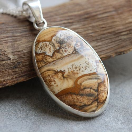 Buy ooak picture jasper pendant gemstone silver pendant online at ooak picture jasper pendant gemstone silver pendant aloadofball Images