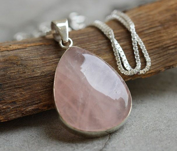 faceted life quartz p rectangle pendant rose crystal product pale pink