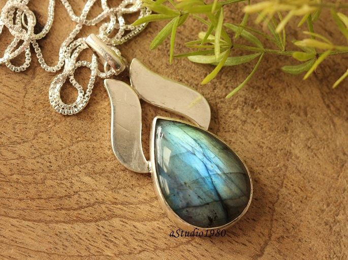 OOAK labradorite pendant necklace Gemstone