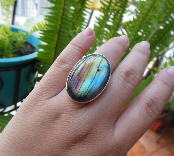 OOAK labradorite ring statement ring