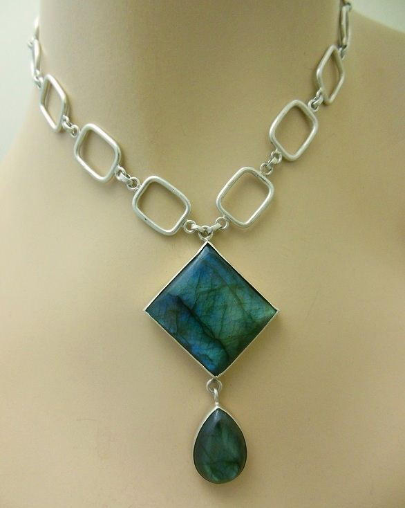 OOAK necklace Statement necklace Labradorite
