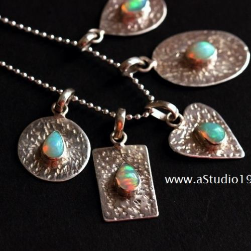 Buy opal pendant hammered natural opal silver pendant artisan opal pendant hammered natural opal silver pendant artisan jewelry aloadofball Choice Image