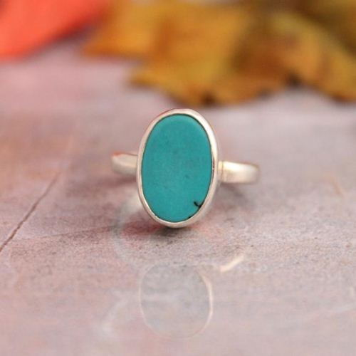 Oval Sleeping Beauty Turquoise Ring