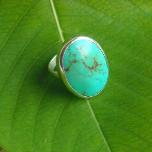 Oval turquoise ring Large turquoise