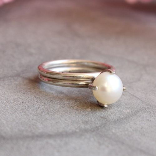 Pearl ring Wedding ring Anniversary