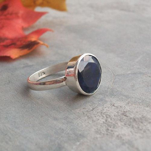 Precious blue sapphire birthstone ring - September birthstone rings