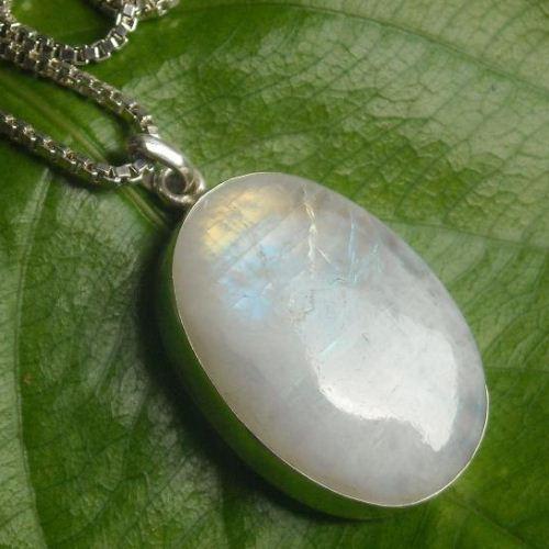 Buy rainbow moonstone pendant necklace large moonstone silver buy rainbow moonstone pendant necklace large moonstone silver pendant online at astudio1980 aloadofball Images