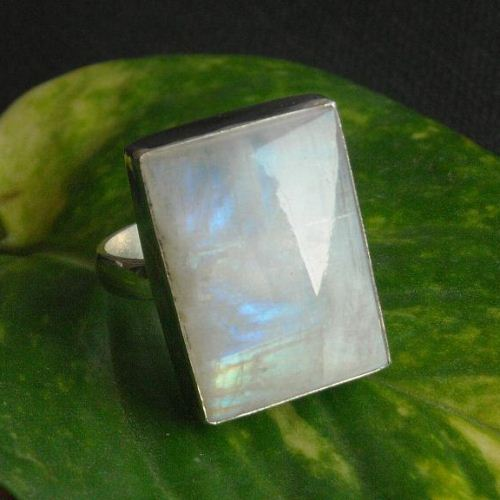 Rainbow Moonstone Ring Artisan ring