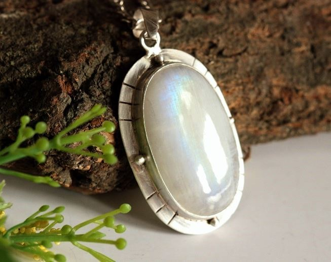 Buy one of a kind handmade large pendants online at astudio1980 artisan large rainbow moonstone silver pendant necklace aloadofball Choice Image