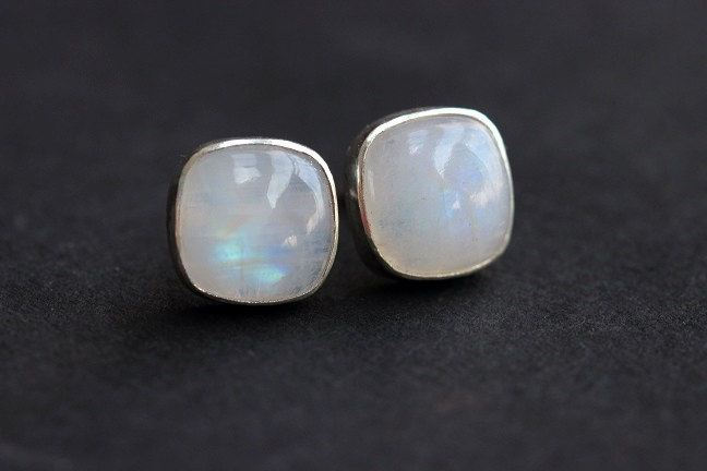 Rainbow Moonstone Earrings Stud Silver Studs Online At Astudio1980