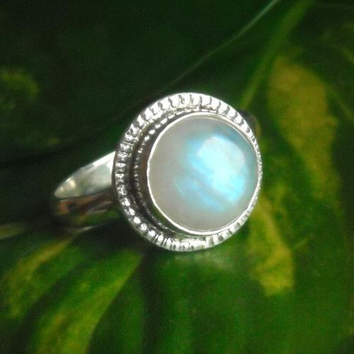 Rainbow moonstone ring Moonstone wedding