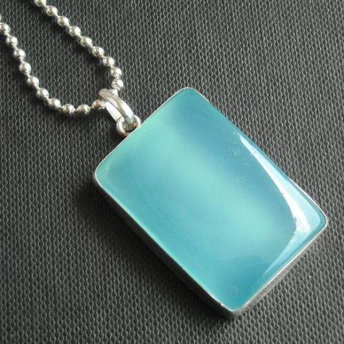 Buy rectangle chalcedony pendant chalcedony necklace aqua silver rectangle chalcedony pendant chalcedony necklace aqua silver jewelry aloadofball Images