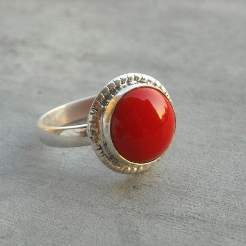 Red Coral Ring Ethnic ring