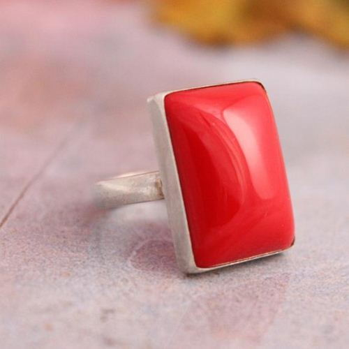 Red Coral Ring Valentine RED