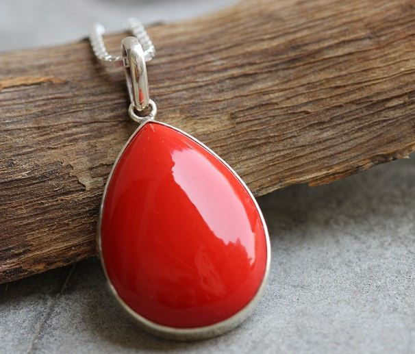 Red Coral pendant Drop pendant
