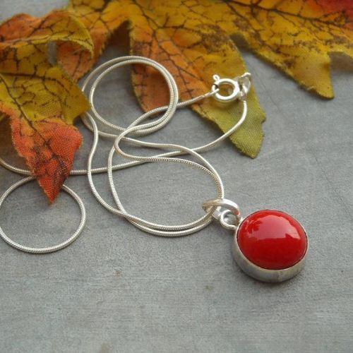 Buy red coral pendant chain unique handmade silver jewelry online red coral pendant chain unique handmade silver jewelry mozeypictures Image collections