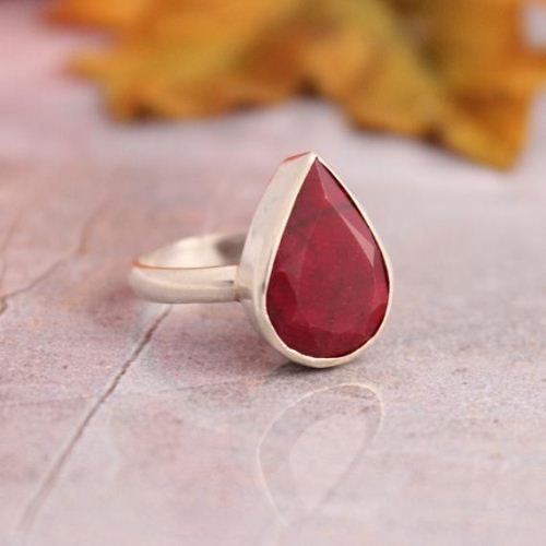 Red ruby ring Precious ring