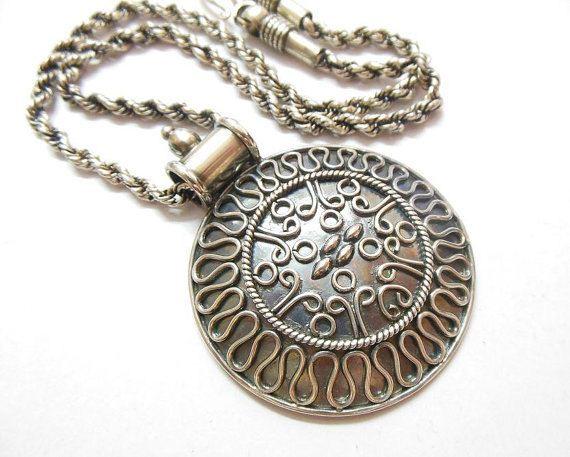 Buy round bold medallion pendant necklace sterling silver ethnic buy round bold medallion pendant necklace sterling silver ethnic pendant online at astudio1980 aloadofball Choice Image