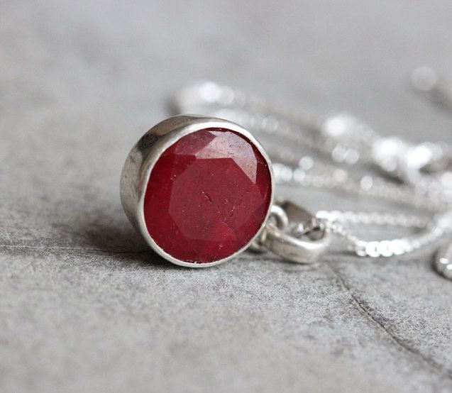 Buy ruby pendant red pendant silver gemstone pendant july stone buy ruby pendant red pendant silver gemstone pendant july stone online at astudio1980 aloadofball Choice Image
