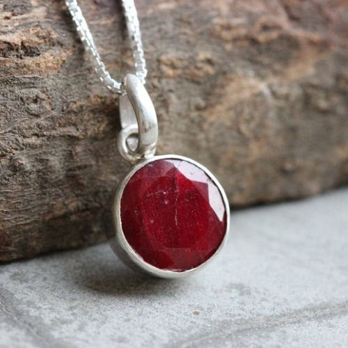 Buy ruby pendant red pendant silver gemstone pendant july stone ruby pendant red pendant silver gemstone pendant july stone aloadofball Gallery