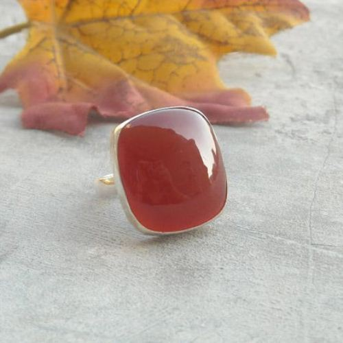 Buy Silver Carnelian Ring Carnelian Jewelry Rings Red