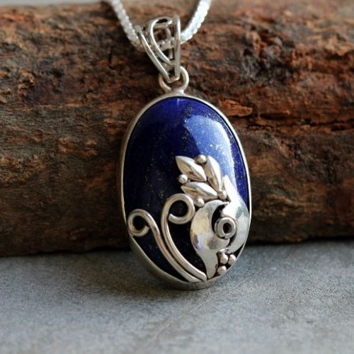 Buy silver artisan pendant necklace unique lapis lazuli pendant silver artisan pendant necklace unique lapis lazuli pendant aloadofball Choice Image