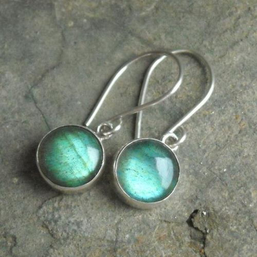 Silver labradorite earrings cute earrings