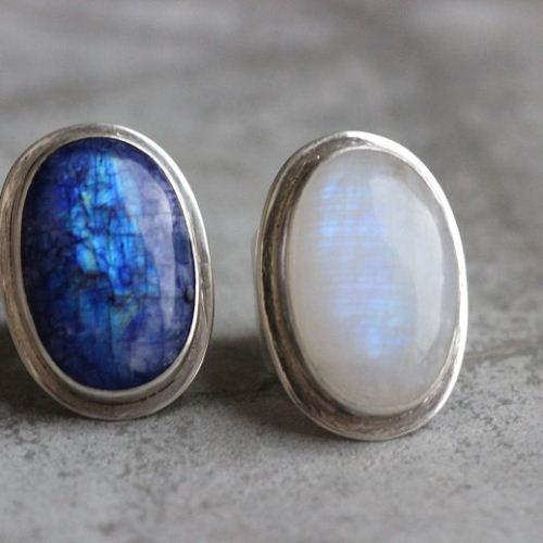 Buy Statement Rainbow Moonstone Ring Blue Moonstone