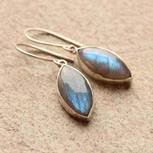 925 Sterling Silver Labradorite earrings