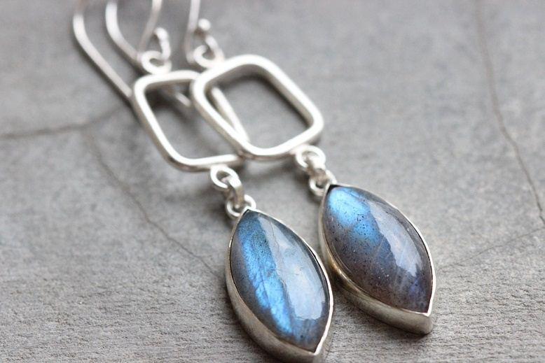 Sterling Silver Labradorite Earrings Dangle Handmade Online At Astudio1980