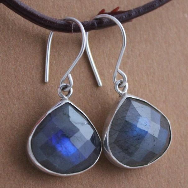 Sterling Silver Labradorite earrings Dangle