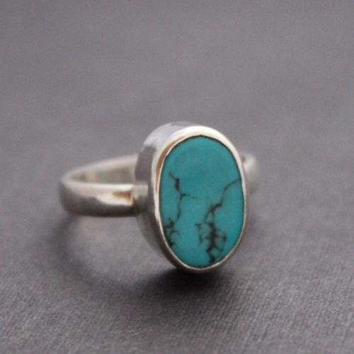 Sterling silver turquoise ring Gemstone