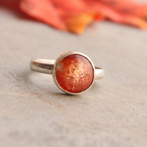 Buy Sunstone Ring Artisan Sun Stone Sterling Silver Ring