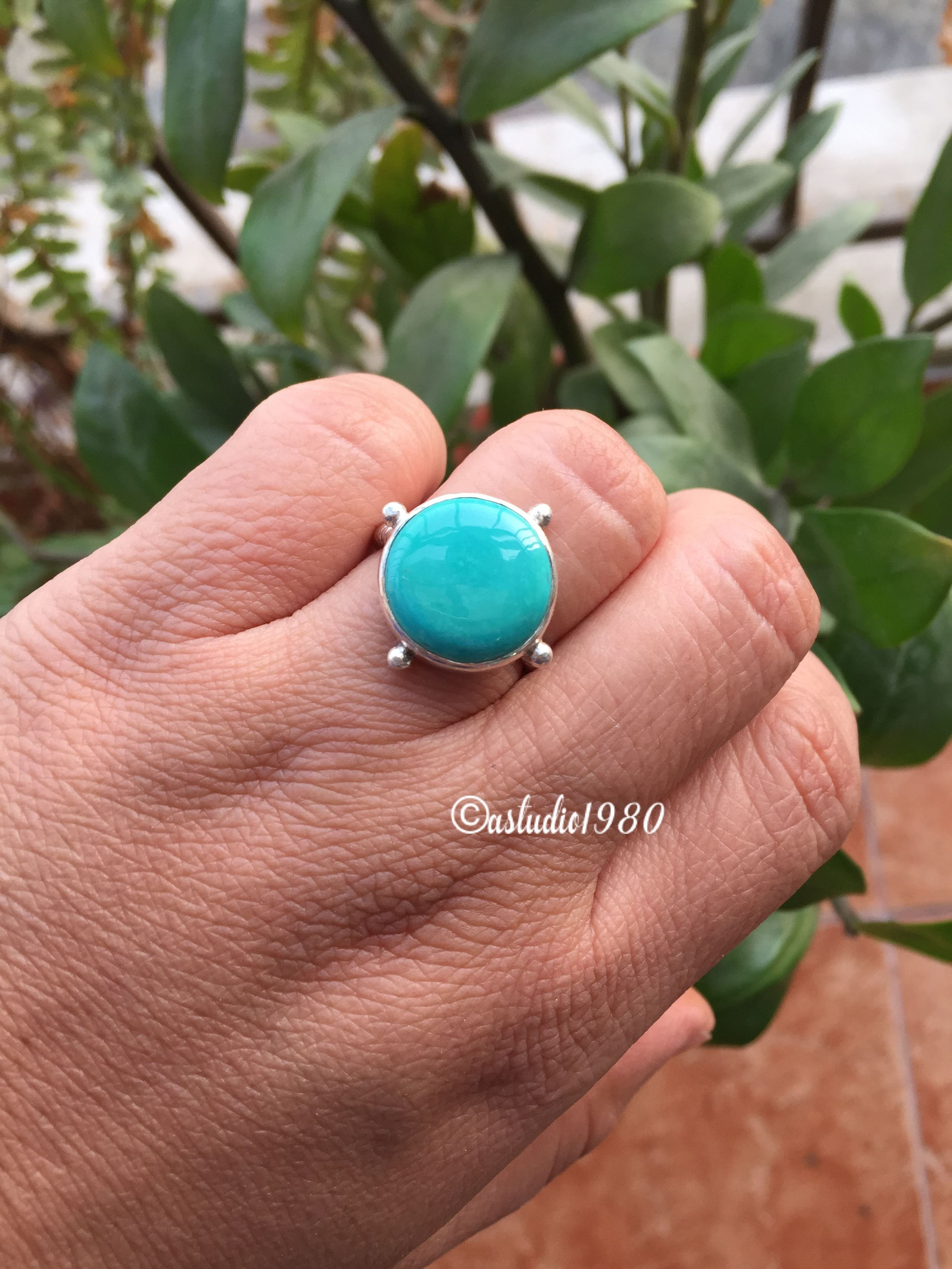 Sterling silver turquoise ring Natural