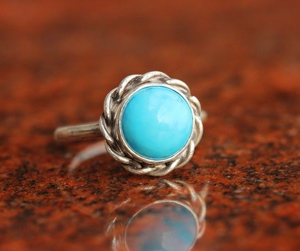 Turquoise Ring statement ring Bezel