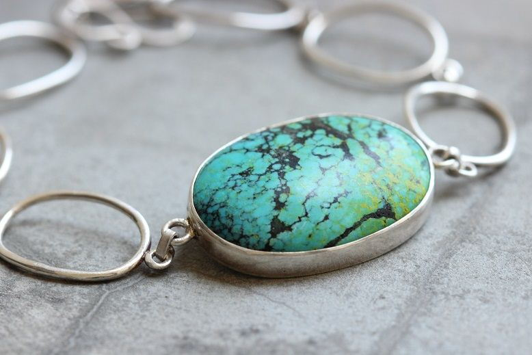 925 Sterling silver turquoise bracelet