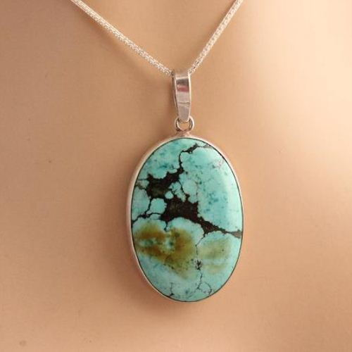 ocean on inspired octopus turquoise necklace with products silver round pendant