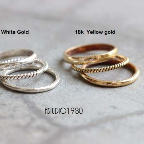 Twisted Rope Wedding Band 18k Yellow Gold Ring